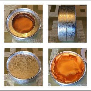 Silver Black Infinity Stretch Bracelet w/ Box